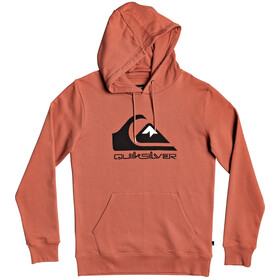 Quiksilver Comp Logo Screen Fleece Capuchon Jas Heren, redwood